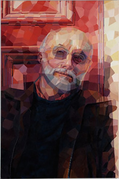 Painted portrait of Professor Ron Newman